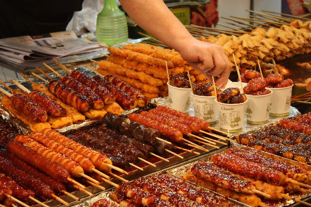 Món ăn vặt tại Hàn Quốc