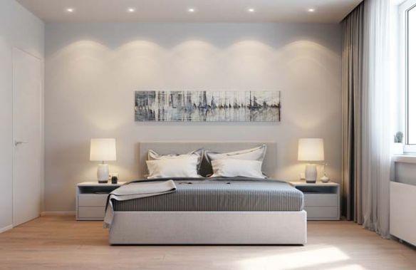 Gian phòng ngủ đơn sắc