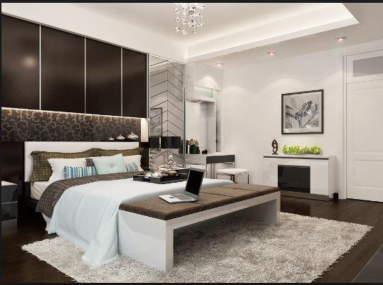 Thiết kế phòng ngủ hiện đại sang trọng