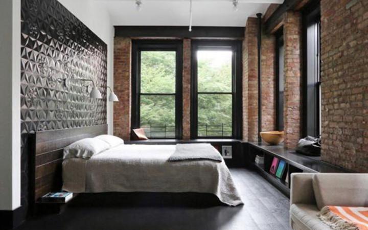 Phòng ngủ kết hợp hai phong cách