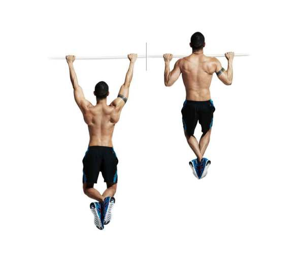 Tập xà đơn sẽ giúp kéo giãn toàn thân dưới tác dụng của trọng lực