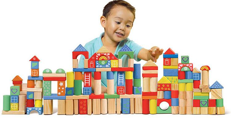 Những khối hình nhiều màu sắc giúp trẻ phát huy óc sáng tạo