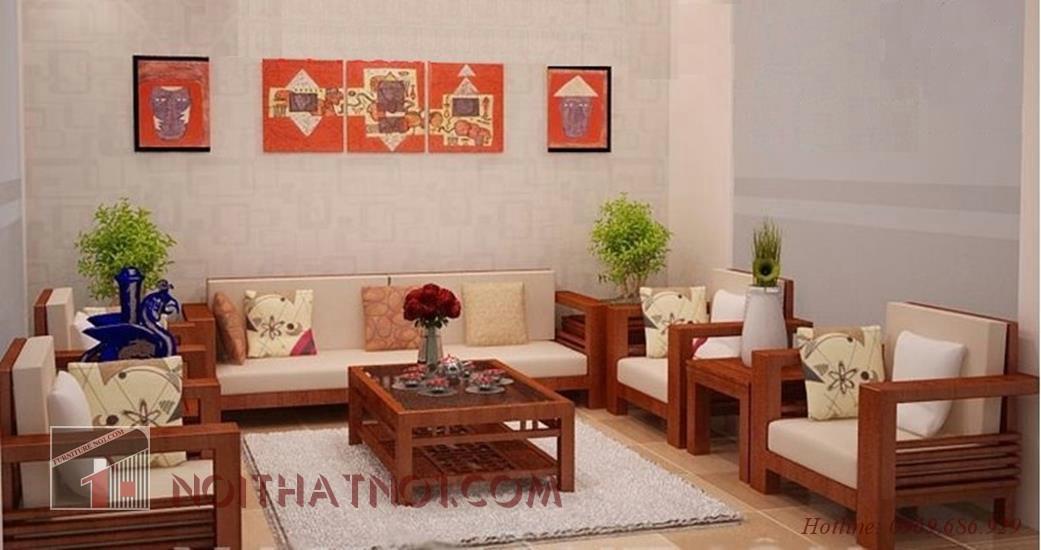 Bàn ghế sofa gỗ tự nhiên đẹp công năng