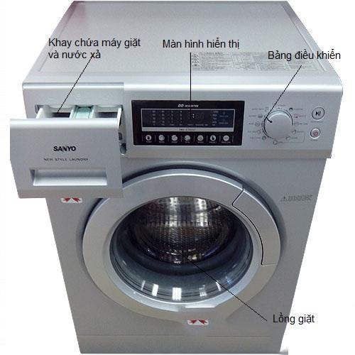 Cách bật chế độ vắt của máy giặt Sanyo