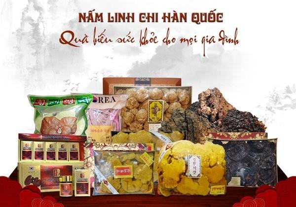 Nấm linh chi Hàn Quốc sản phẩm sức khỏe bổ dưỡng trên toàn thế giới