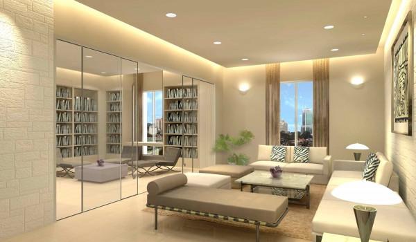 Lựa chọn màu sáng cùng gương để làm tăng không gian nhà nhỏ hẹp