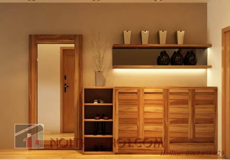 Tủ giày gỗ tự nhiên chất lượng
