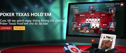 Poker texas là ứng dụng chơi game bài hấp dẫn trên điện thoại hoàn toàn miễn phí